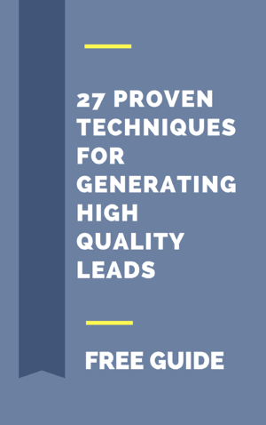 27 Proven techniques for Generating High Quality Leads-1