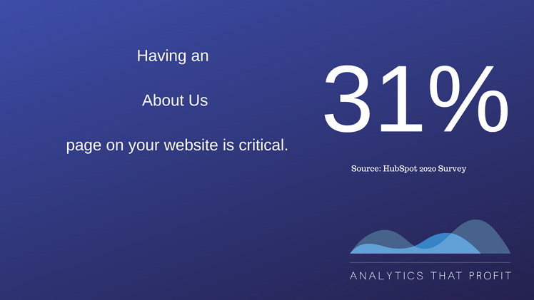about us on website_analytics that profit