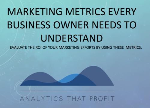 marketing metrics_analytics that profit
