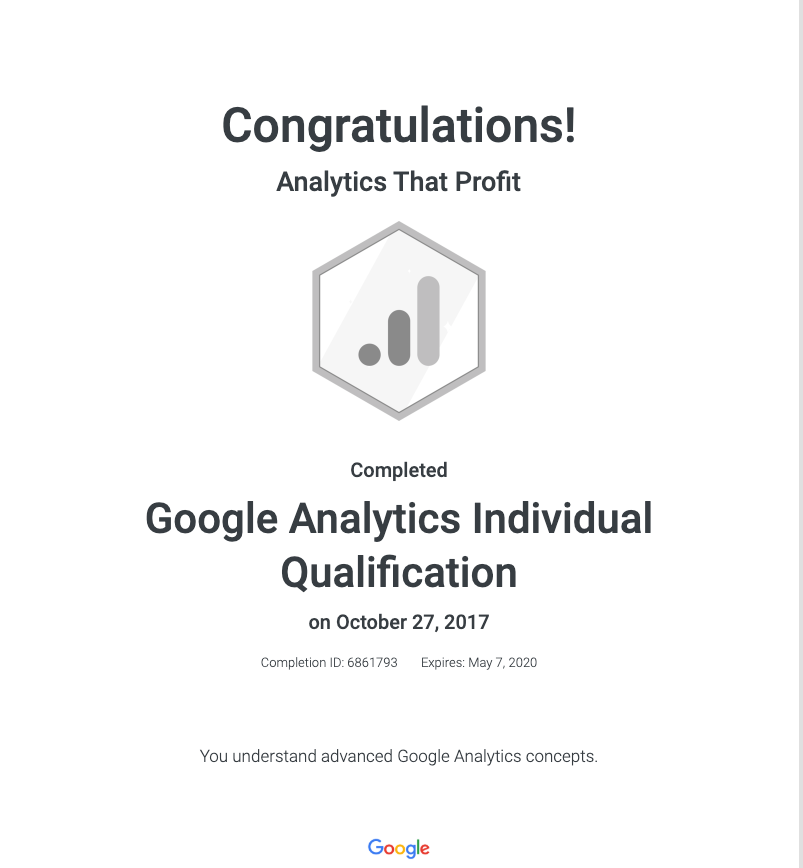 Google Analytics Certified_Analytics That Profit