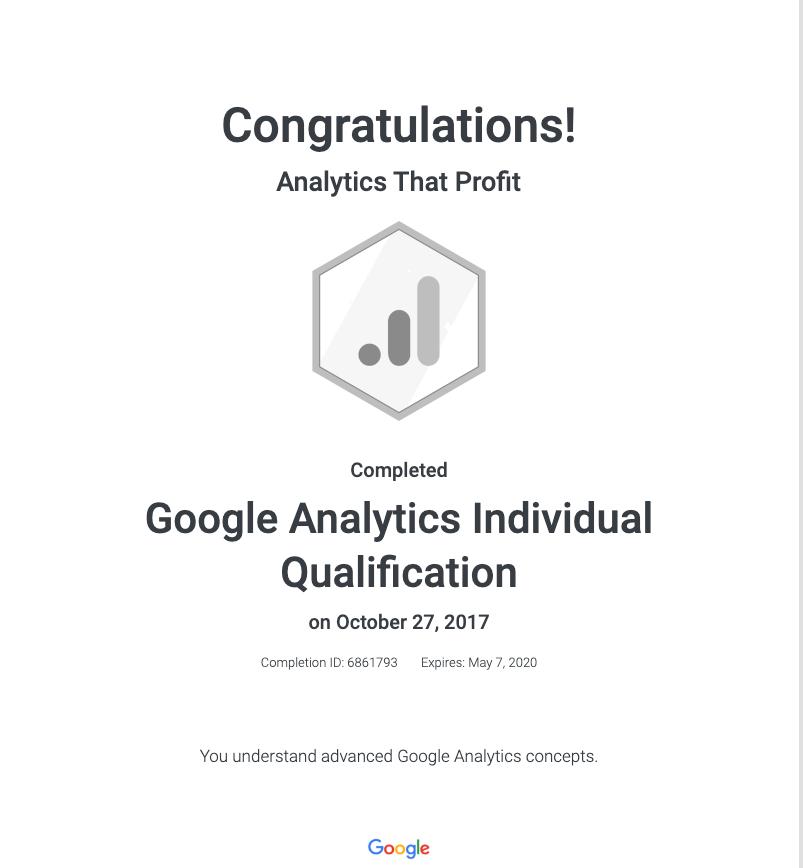 Google Analytics Certified_Analytics That Profit