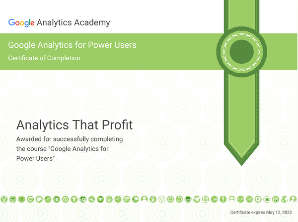 Google Analytics Power Users_analytics that profit 2020