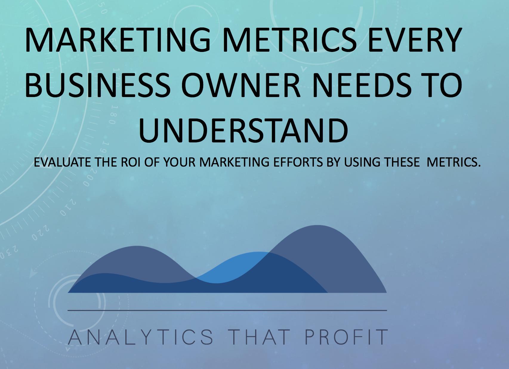 Marketing Metrics Every Business owner Needs To Understand Analytics That Profit Free Cheat Sheet-1