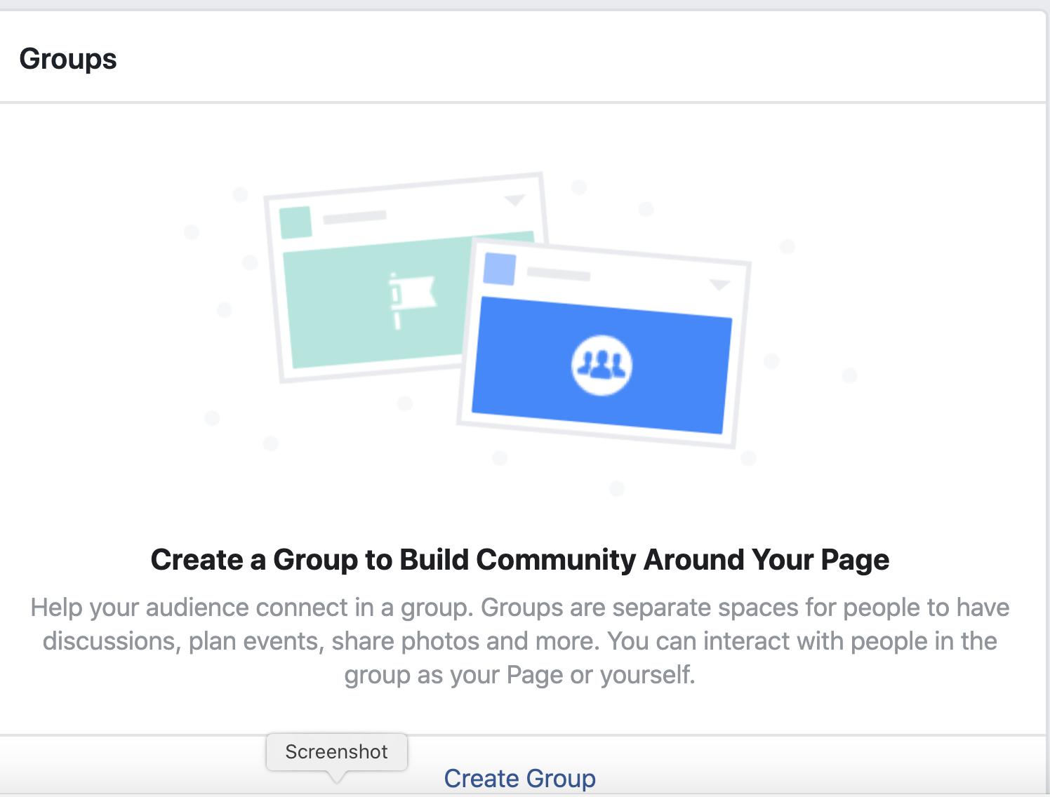 Facebook for business create a group