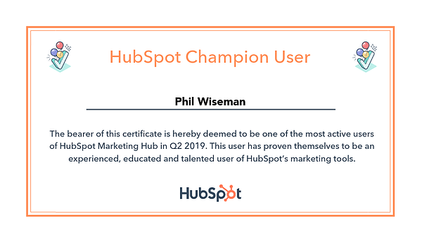HubSpot Champion Q2 2019_Analytics That Profit