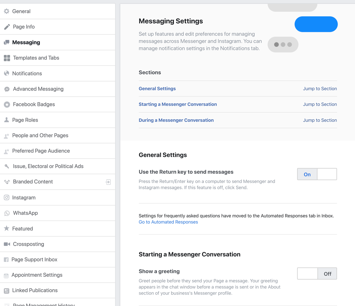 Messaging in Facebook for Business