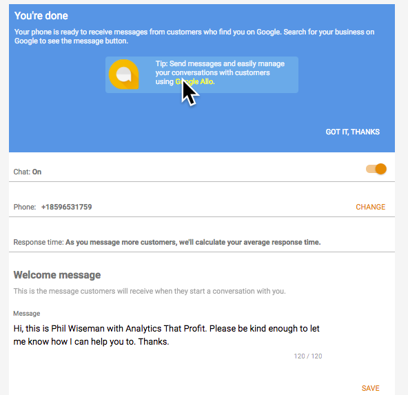 messaging on google my business turn on chat analytics that prfit.png