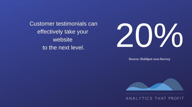 customer testimonials on website_analytics that profit