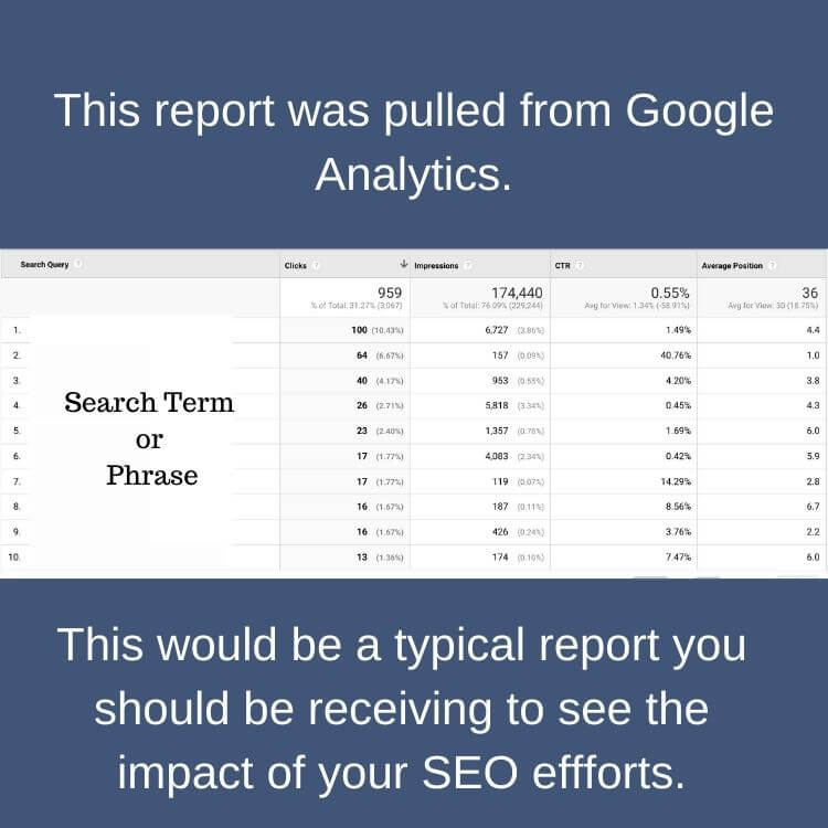 how to know if your SEO is a scam_ reporting_analytics that profitSearch Term or Phrase