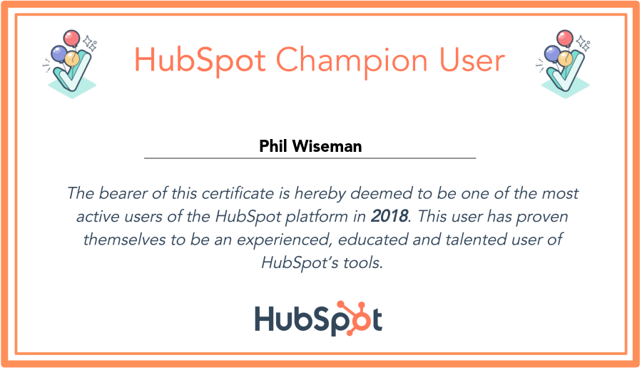 hubspot champion_analytics that profit