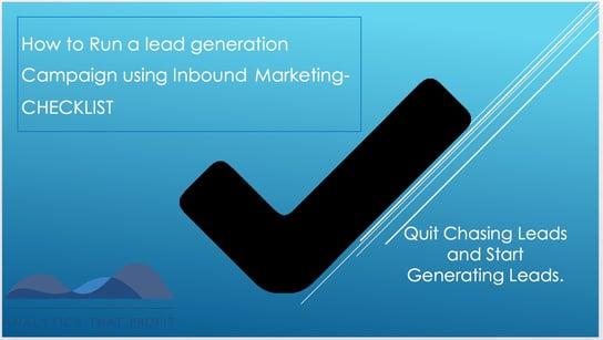 How to run a lead generation campaign using inbound marketing checklist Analytics That Profit.jpeg