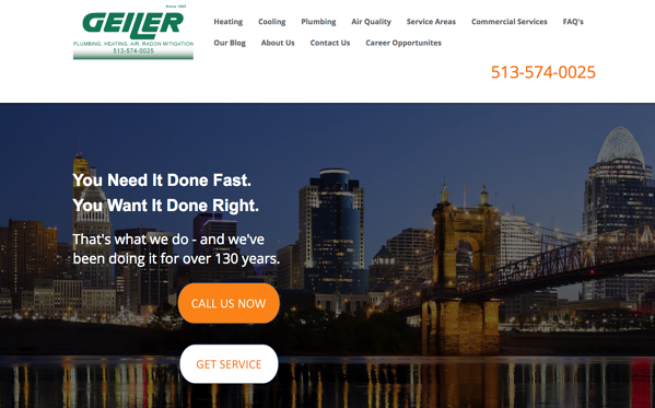 the geiler company clickable phone number call to action analytics that profit