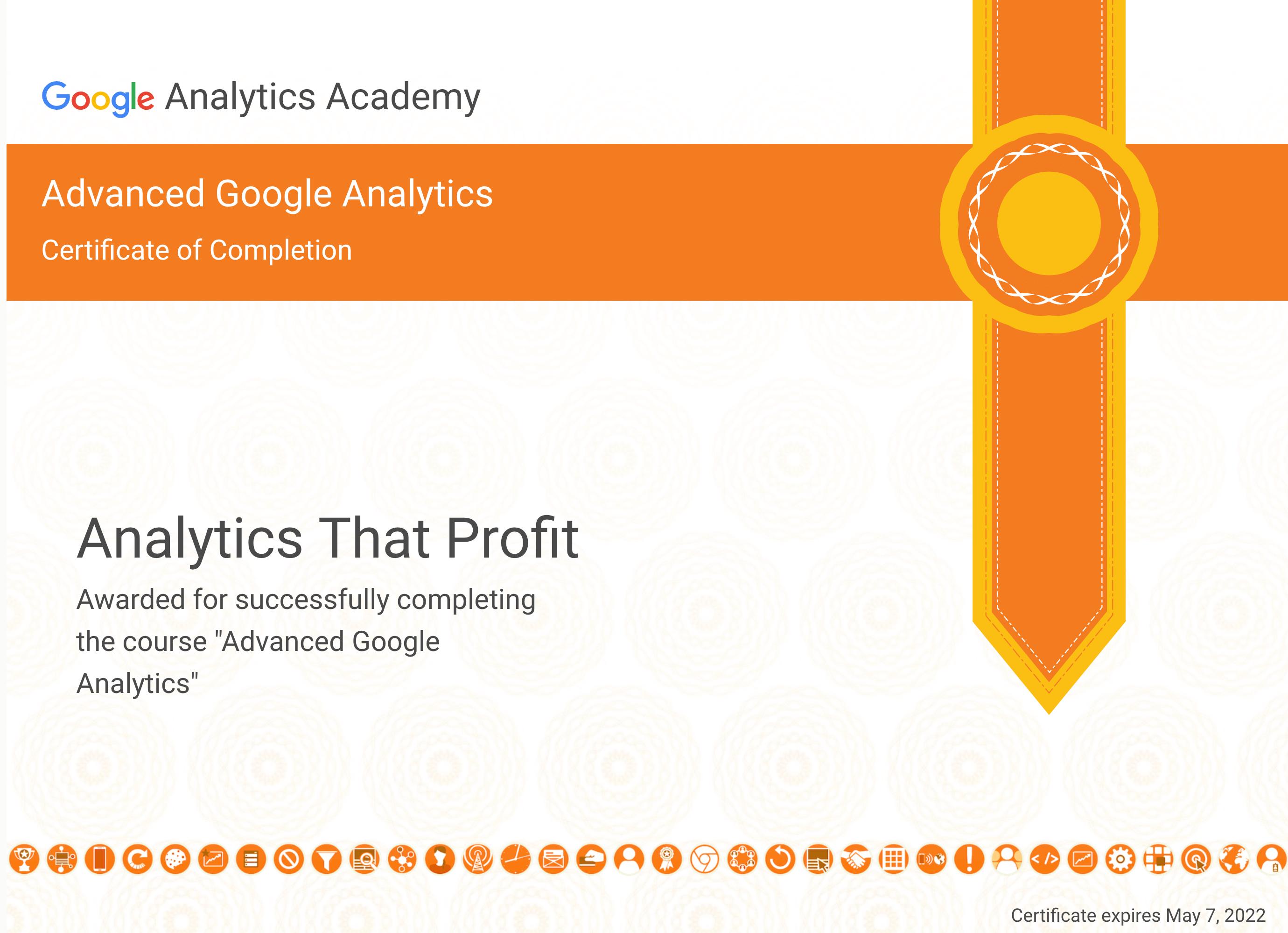 Advanced Google Analytics 2022