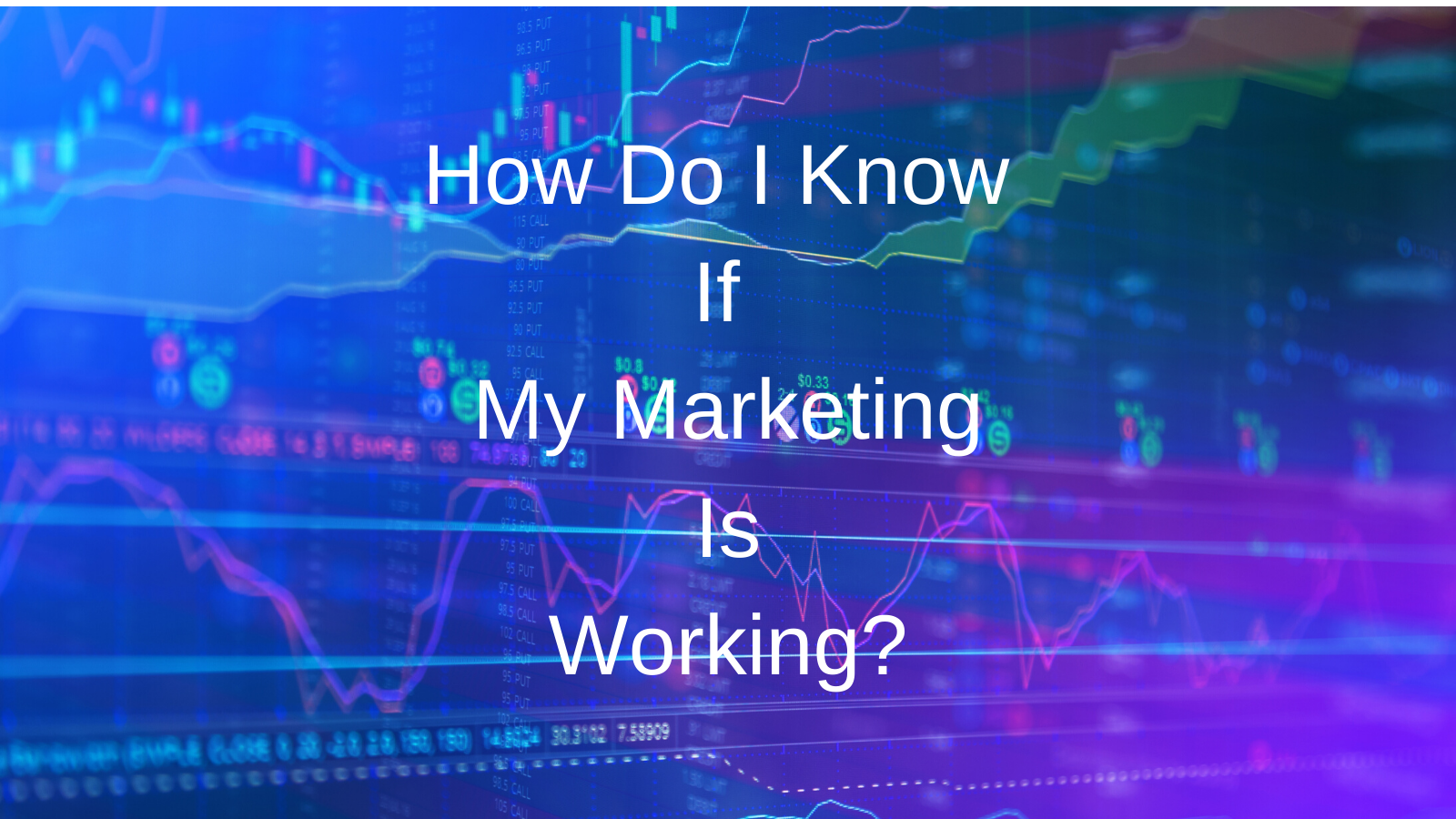 How Do I Know If My Marketing Is Working?