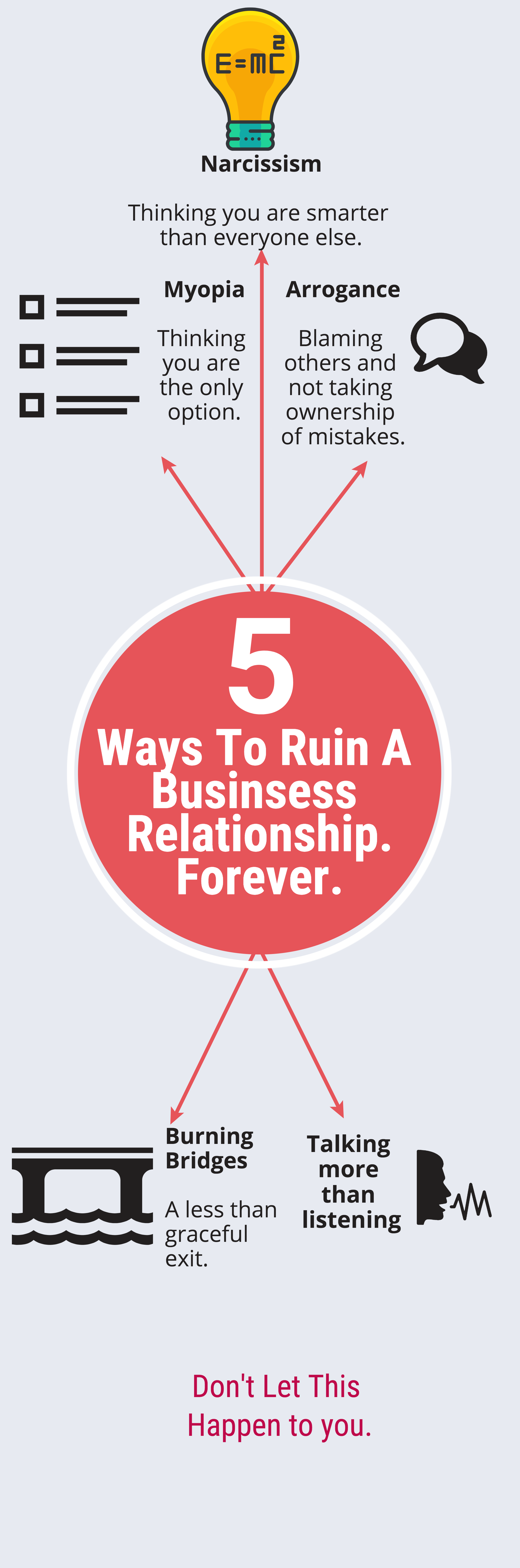 5 Ways To Ruin A Business Relationship. Forever.