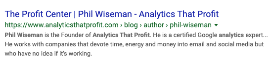 phil wiseman_analytics that profit